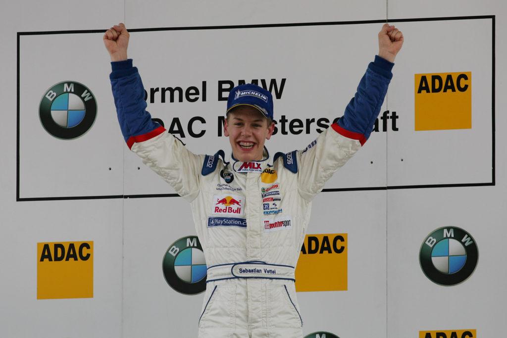 Sebastian Vettel 2004 in der Formel BMW Credit: BMW AG