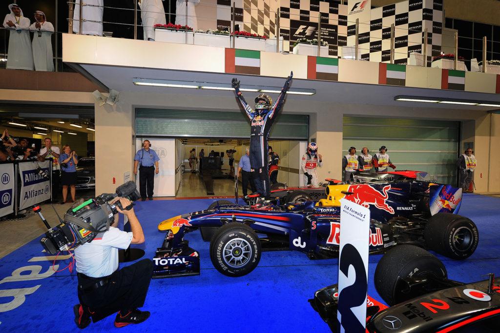 2010 gewann Vettel seinen ersten WM Titel. Credit: Red Bull Content Pool