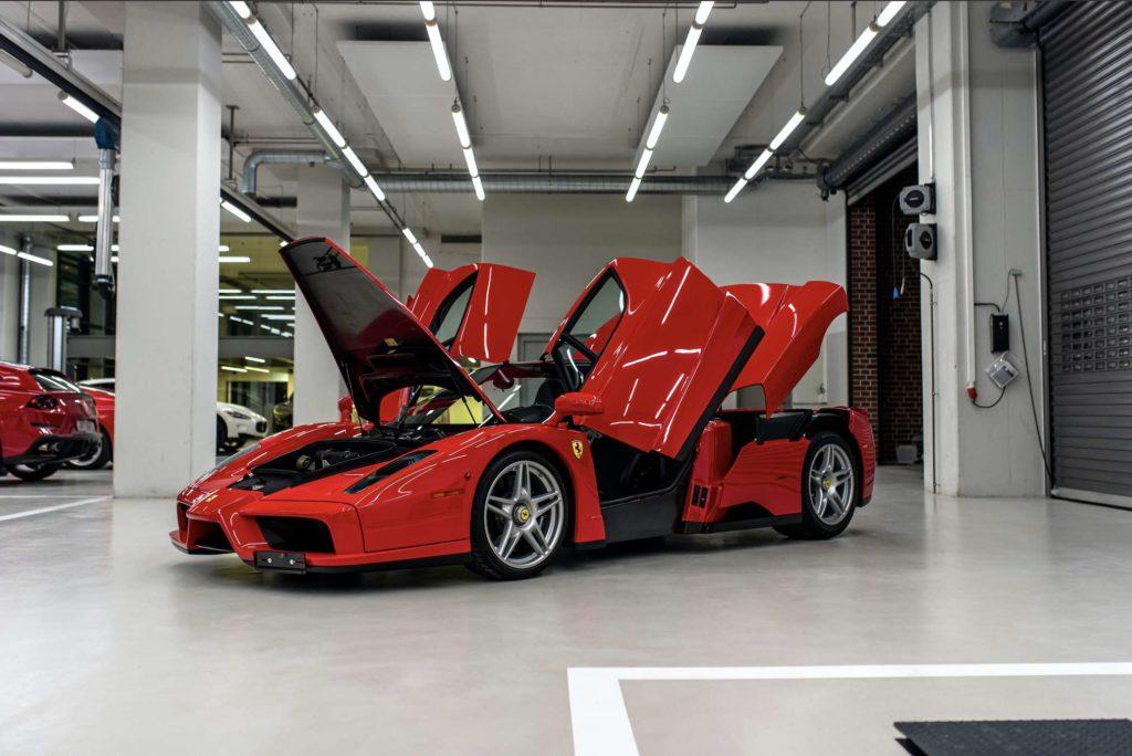 Vettels Ferrari Enzo. Credit: Tom Hartley jr