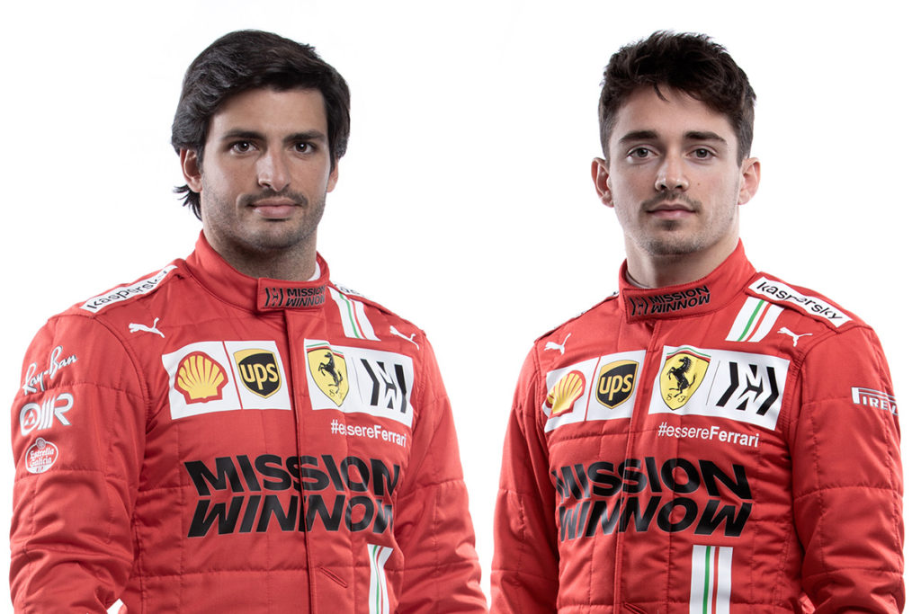 Carlos Sainz und Charles Leclerc Credit: Ferrari