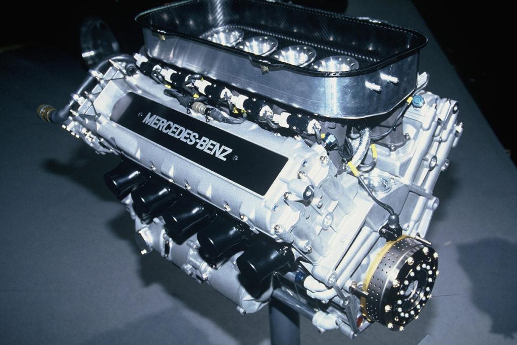 Der 3,5-Liter-Motor Typ 2175 B für den Formel-1-Rennwagen Sauber-Mercedes C 13 aus dem Jahr 1994. Credit: Mercedes
