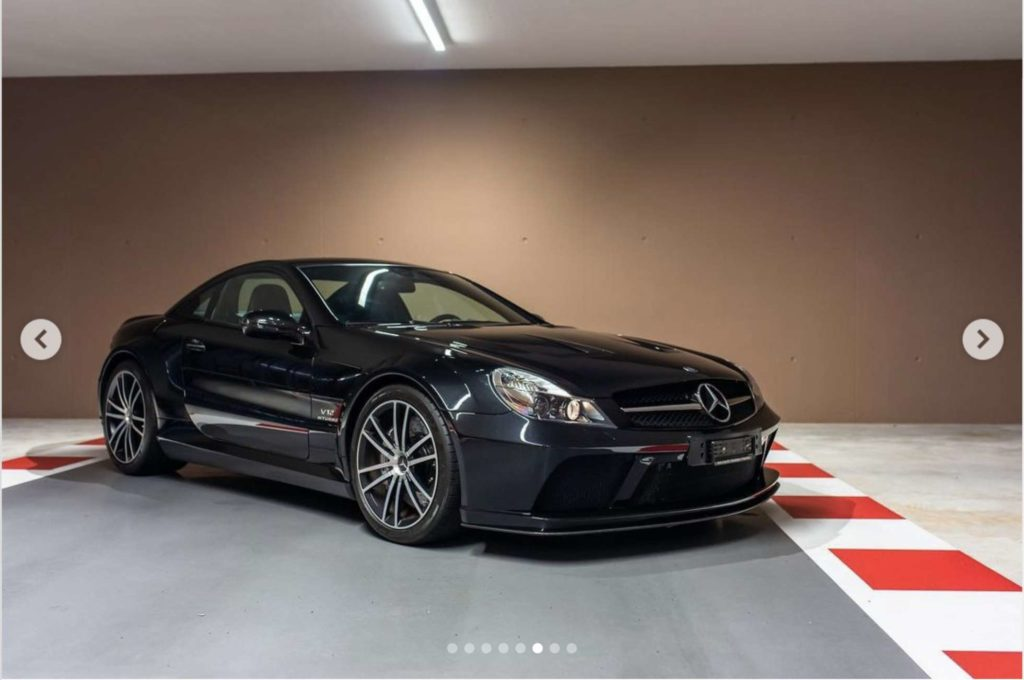 Vettels 2009 Mercedes-Benz SL65 AMG Black Series. Credit: TomHartleyJunior/Instagram