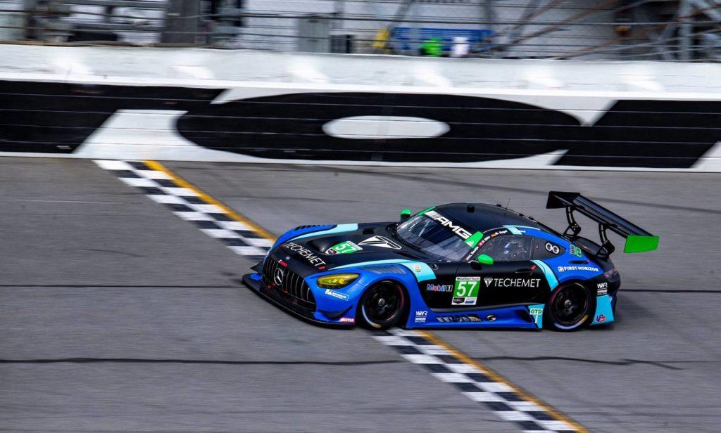 Mercedes gewann die GT3-Klasse in Daytona; Credit: Maro Engel/Twitter