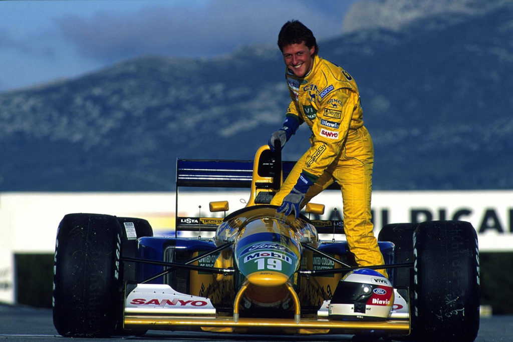 Michael Schumacher 1992. Credit: Michael Schumacher/Twitter