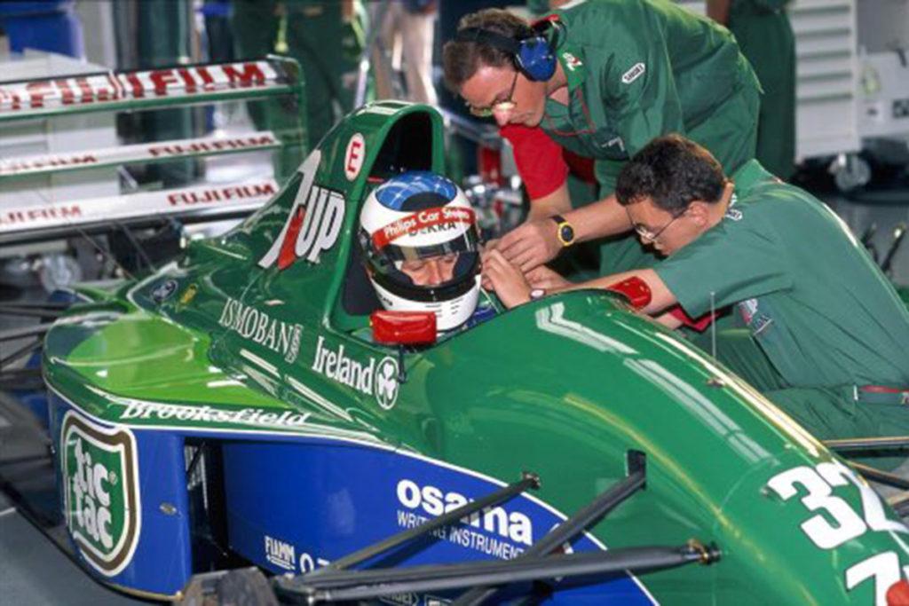 Michael Schumachers Formel-1-Premiere beim Großen Preis von Belgien in Spa 1991 Credit: Schumacher/Twitter
