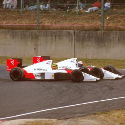 Der legendäre McLaren-Stallkrieg zwischen Ayrton Senna und Alain Prost Credit: McLaren/Twitter