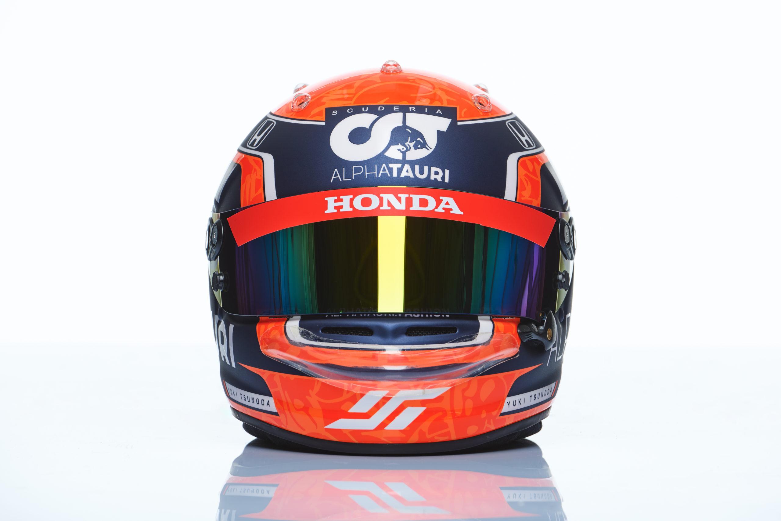 Formel 1 Helm 2021 Tsunoda