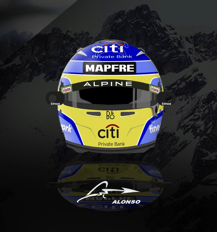 Formel 1 Helm 2021 Alonso