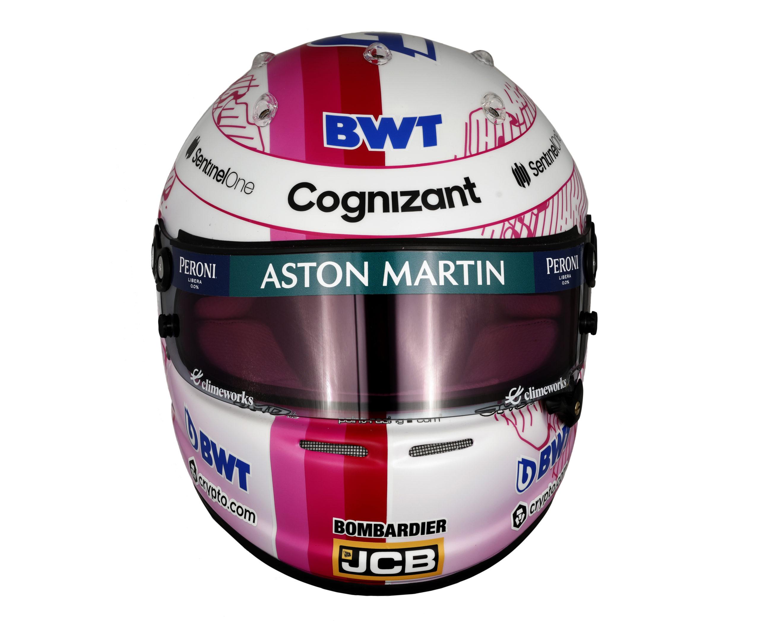 Formel 1 Helm 2021 Vettel
