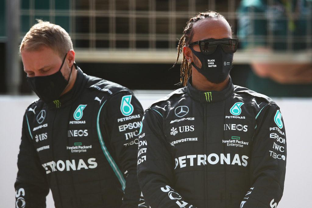 Lewis Hamilton und Valtteri Bottas Credit: F1/Twitter