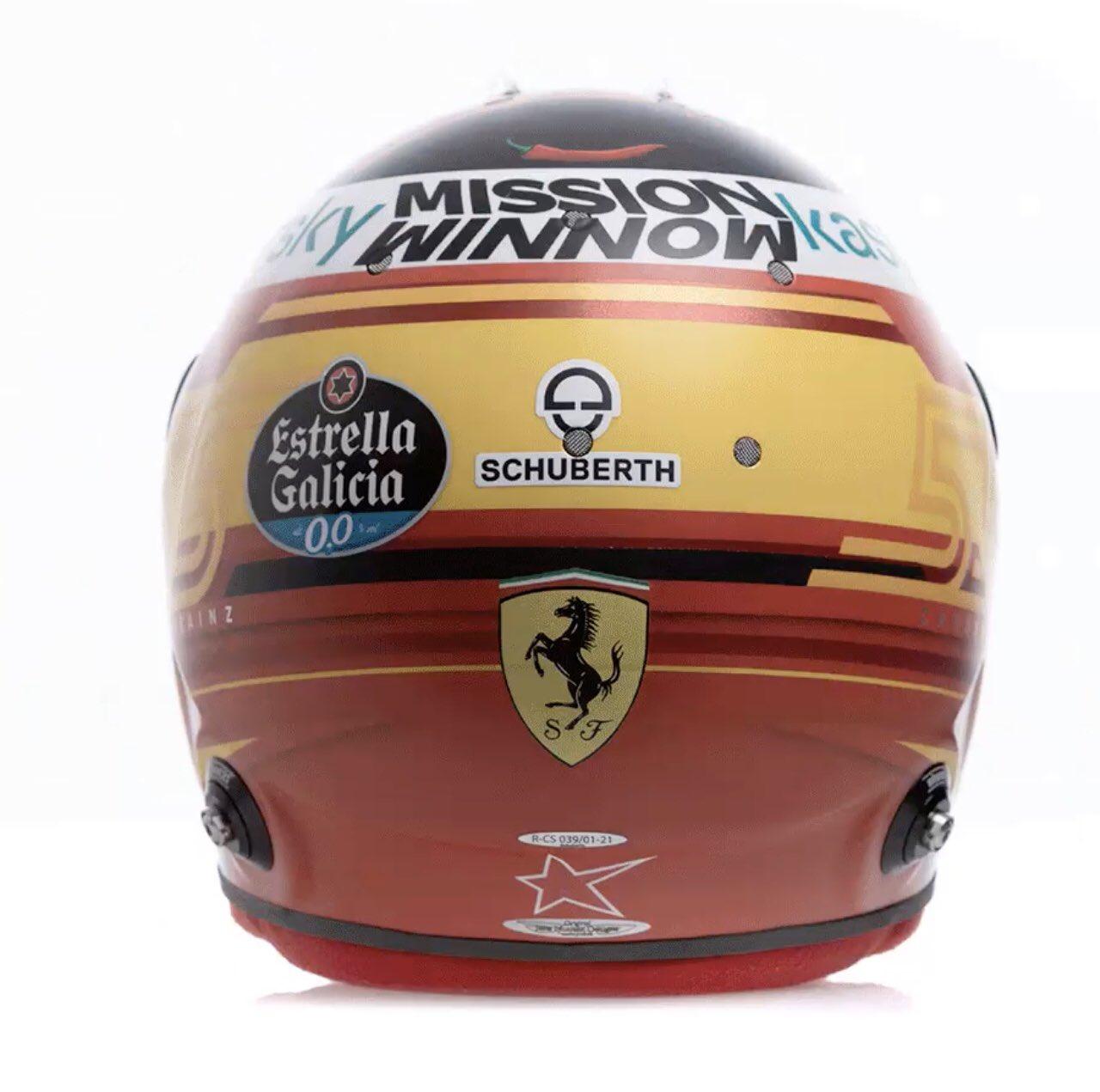 Formel 1 Helm 2021 Sainz