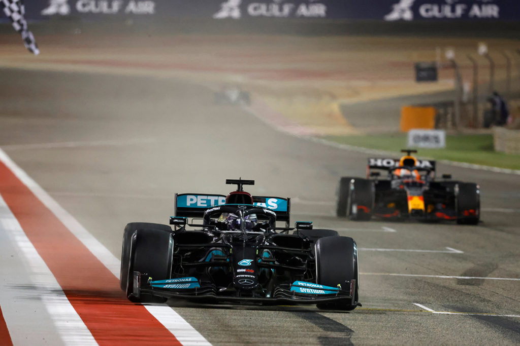 Formel 1 Bahrain GP 2021 Lewis Hamilton Max Verstappen
