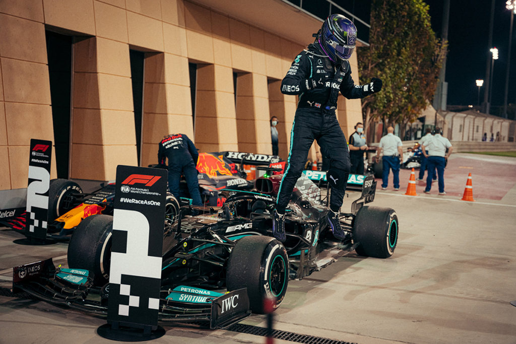 Formel 1 Lewis Hamilton Mercedes Bahrain GP Sieger 2021