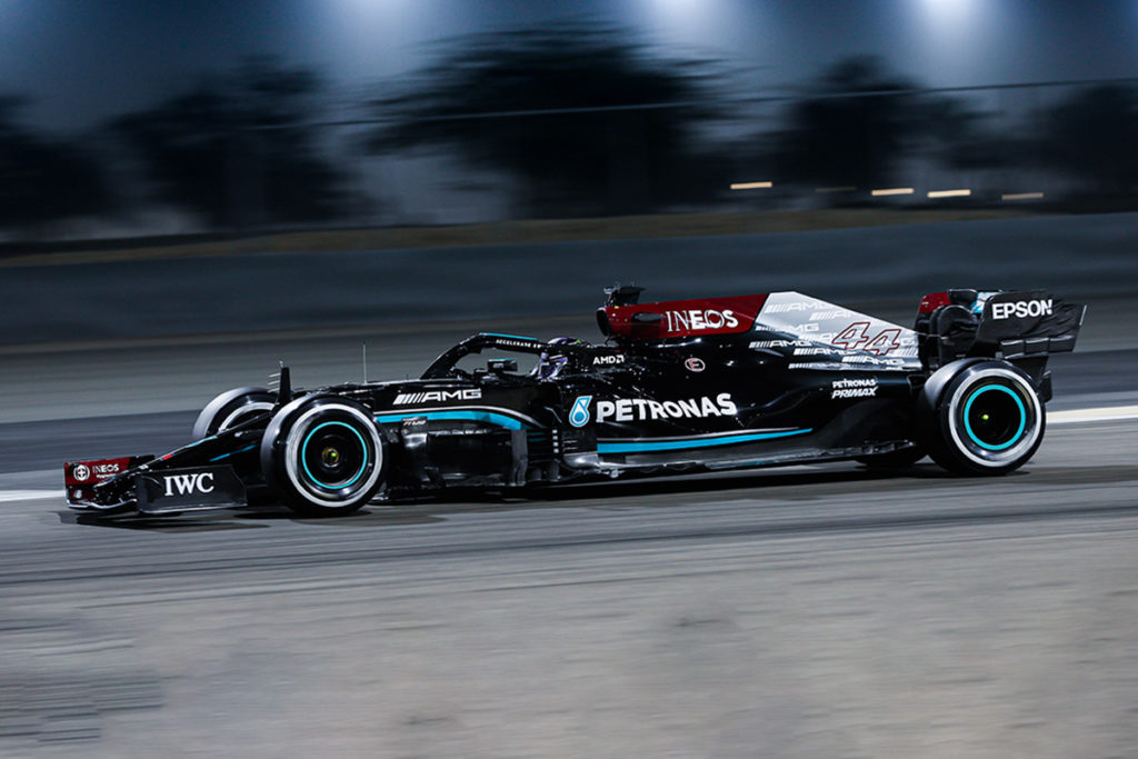 Formel 1 Mercedes Bahrain 2021 Test