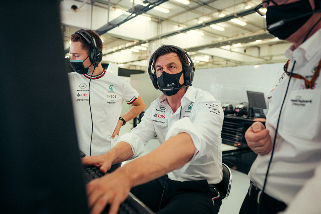 Formel 1 Mercedes Bahrain GP FP1 Toto Wolff 2021