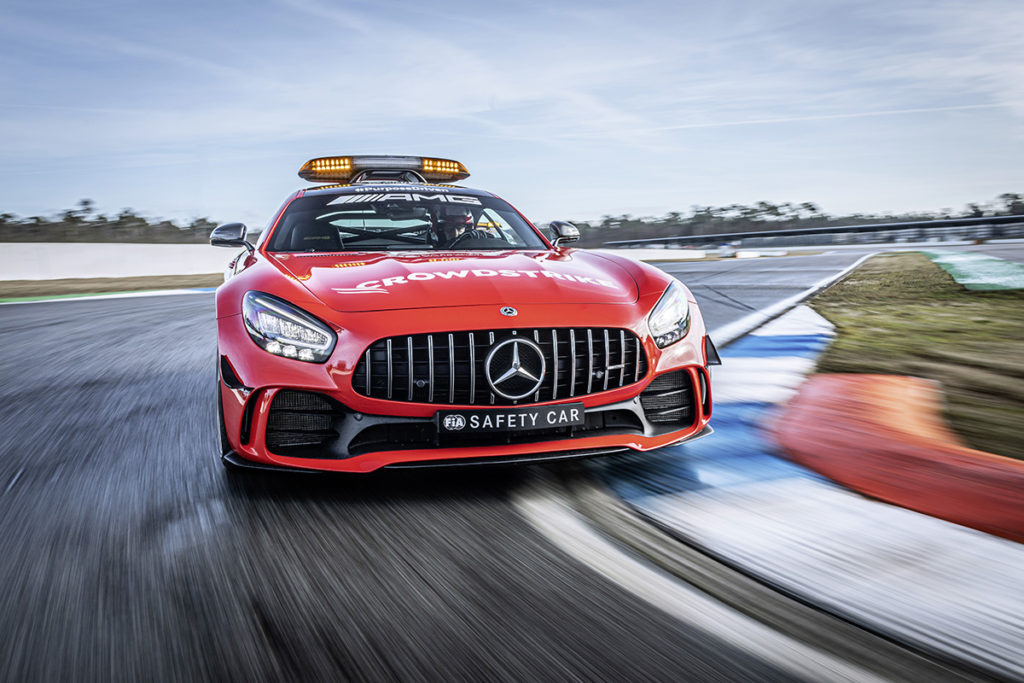 Mercedes AMG GT-R Safety Car Credit: Daimler AG