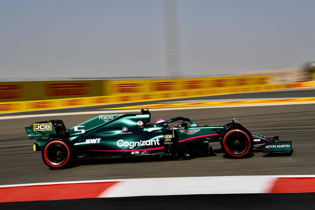 Formel 1 Sebastian Vettel Aston Martin Bahrain FP3 2021