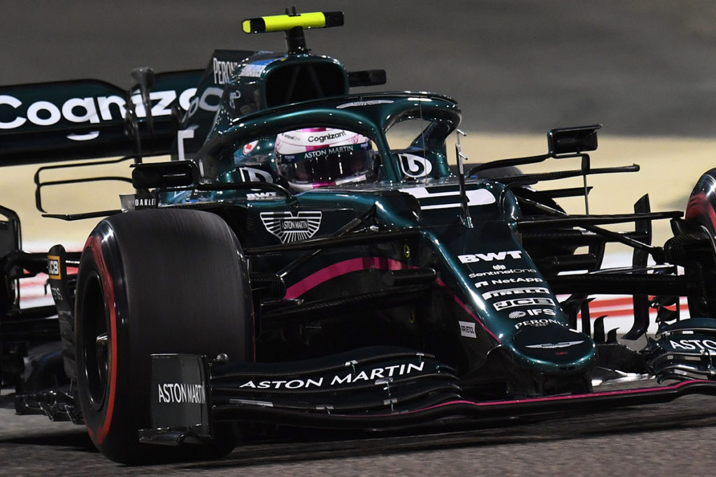 Formel 1 Aston Martin Sebastian Vettel Bahrain Quali 2021