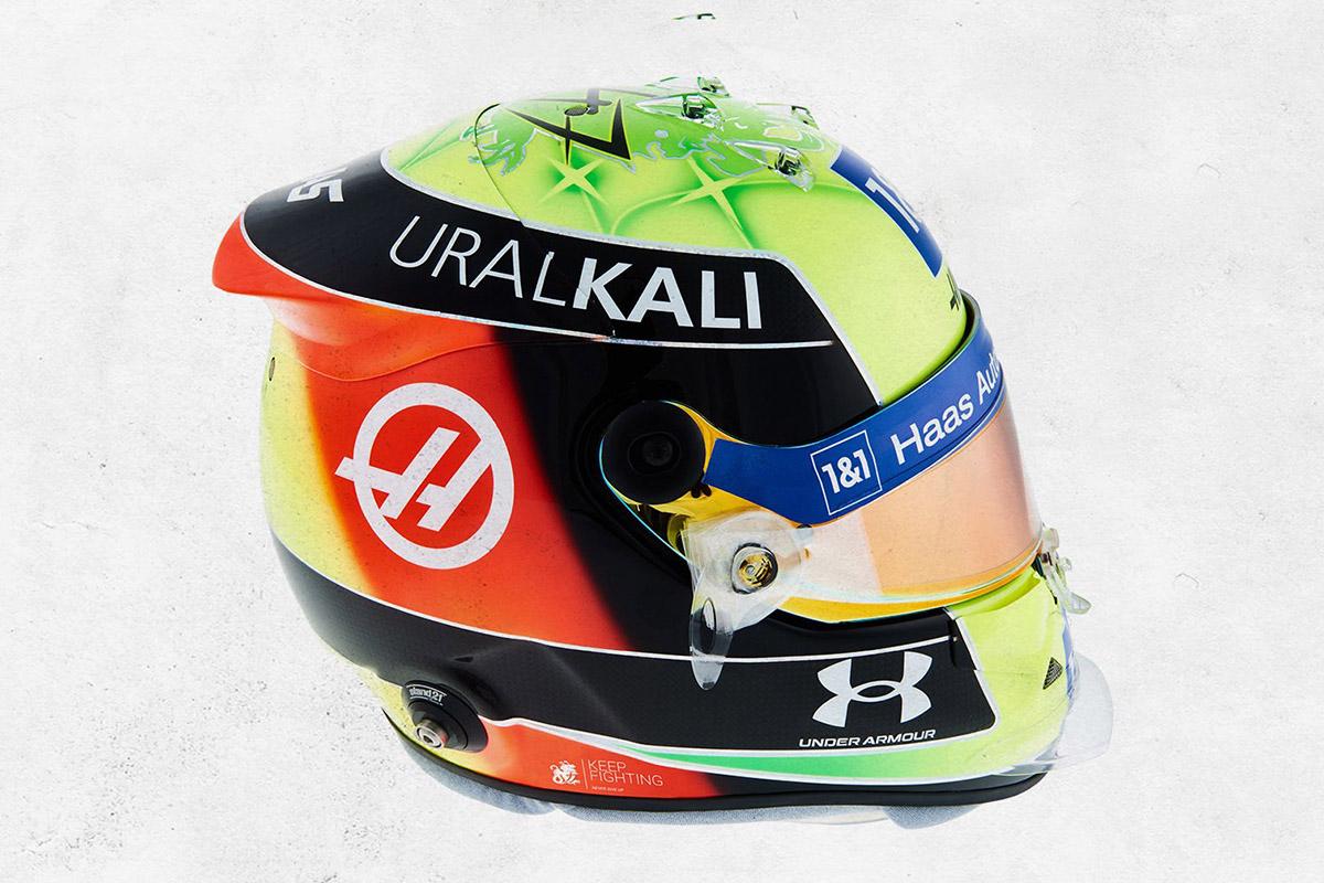 Formel 1 Mick Schumacher Helm 2021