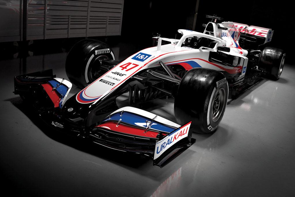 So wird Mick Schumachers Haas VF-21 in der Formel-1-Saison 2021 aussehen. Credit: Haas