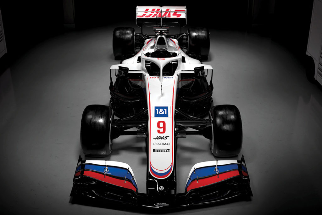 Haas VF-21 Lackierung für die Formel-1-Saison 2021