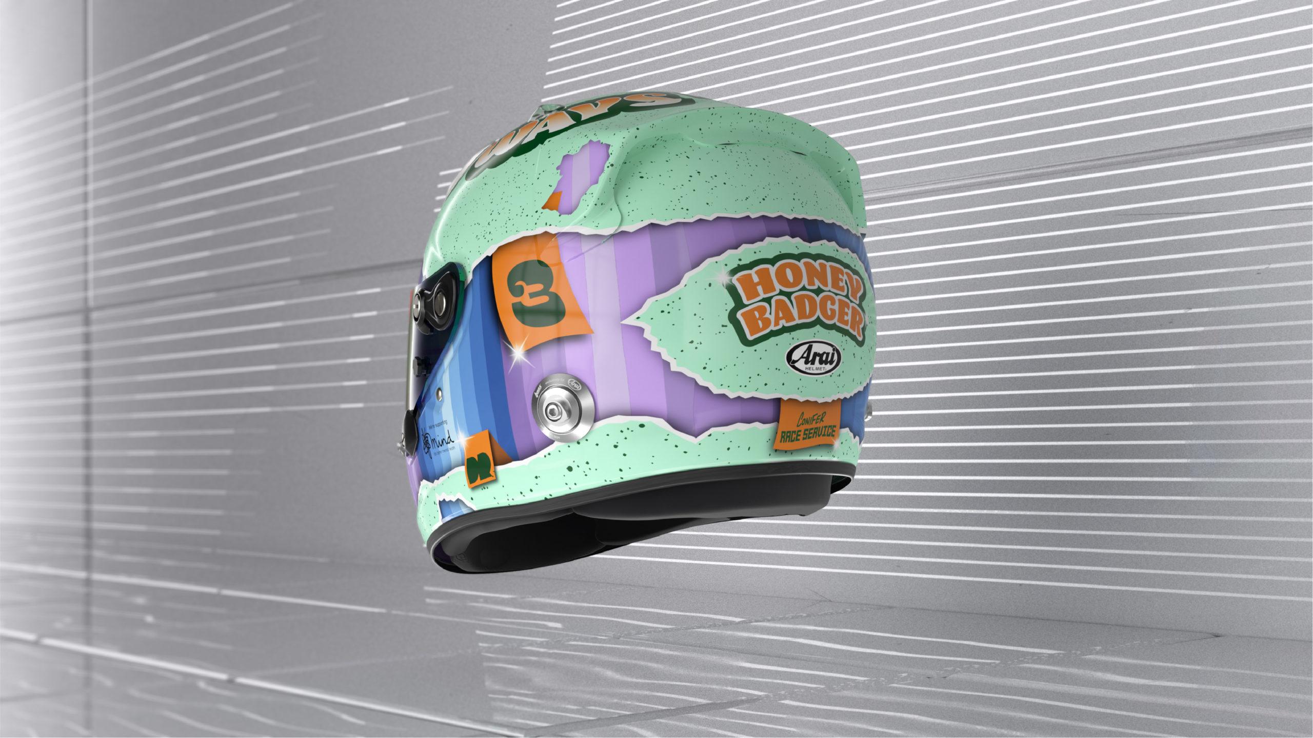 Formel 1 Helm 2021 Ricciardo