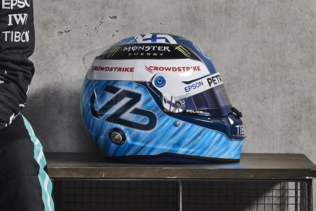 Formel 1 Helm 2021 Bottas