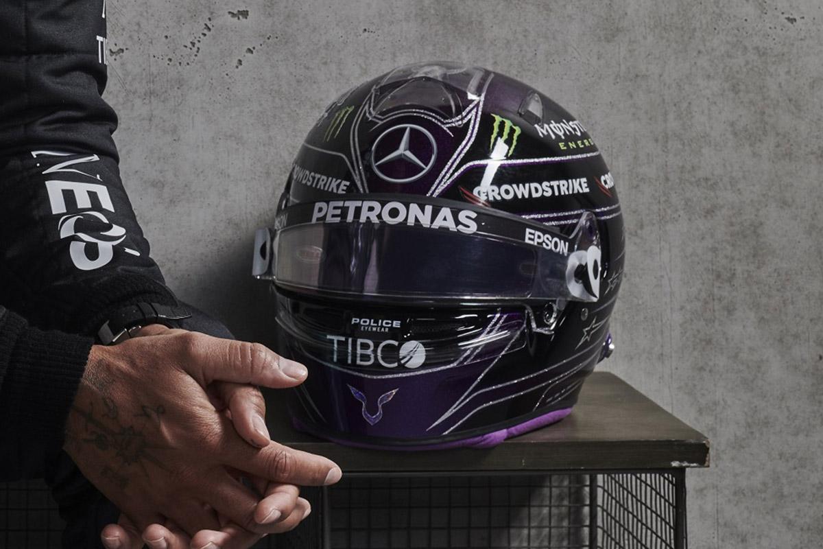 Formel 1 Helm 2021 Hamilton