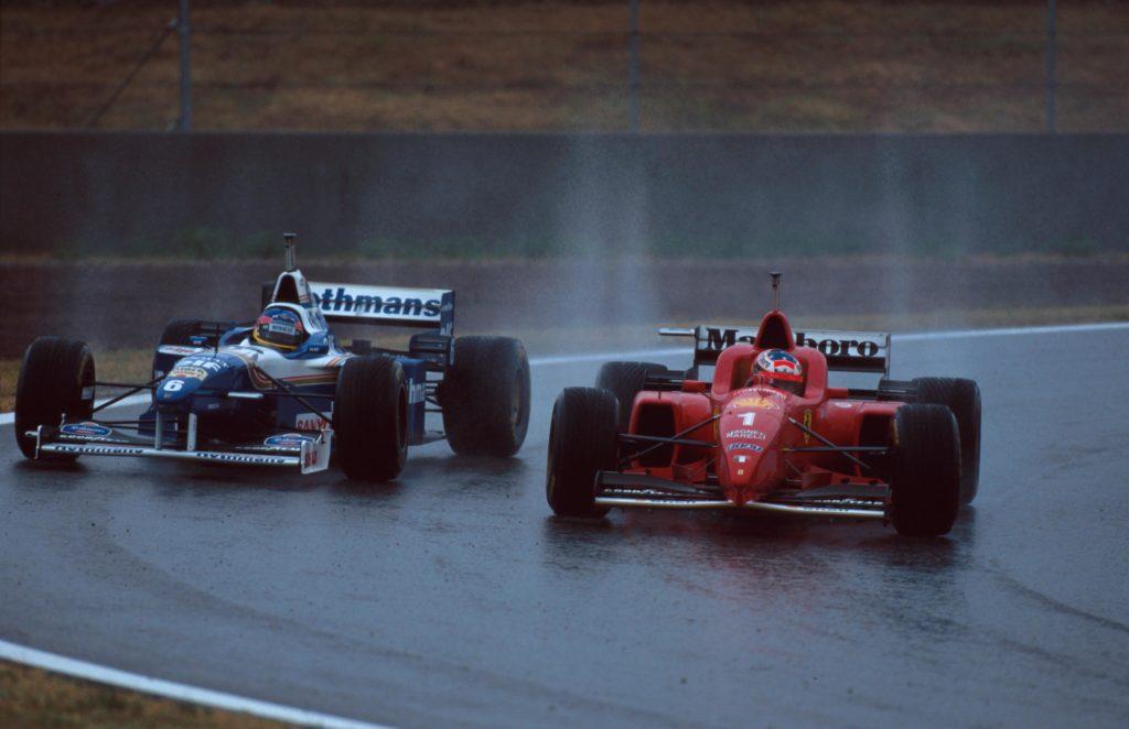 Michael Schumacher 1996 in Spanien Credit: F1/Twitter
