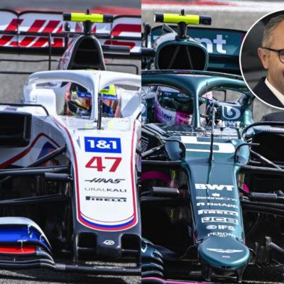 Credit: Haas; Aston Martin; Lamborghini
