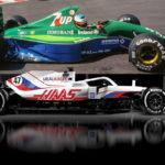 Die Schumis und ihre ersten F1-Autos Credit: Haas; Michael Schumacher/Twitter