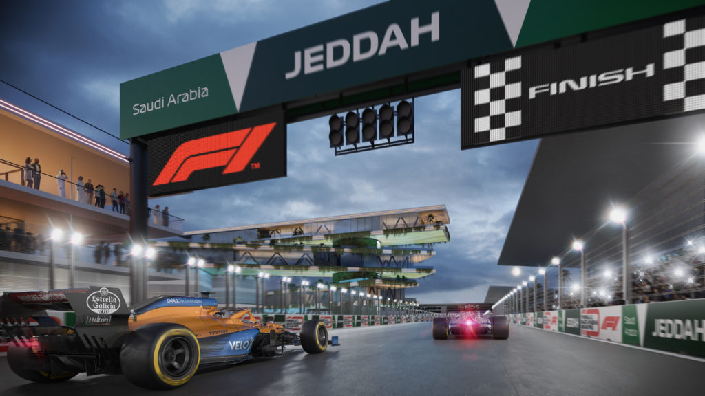 Saudi Arabien Jeddah Grafik Credit: F1/Twitter