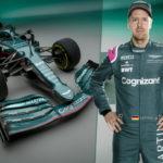 Sebastian Vettel und sein Aston Martin AMR21 Credit: Aston Martin