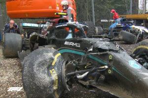 Formel 1 Valtteri Bottas Mercedes Crash Imola GP 2021