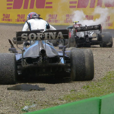 Formel 1 Valtteri Bottas George Russel Imola GP 2021 Crash