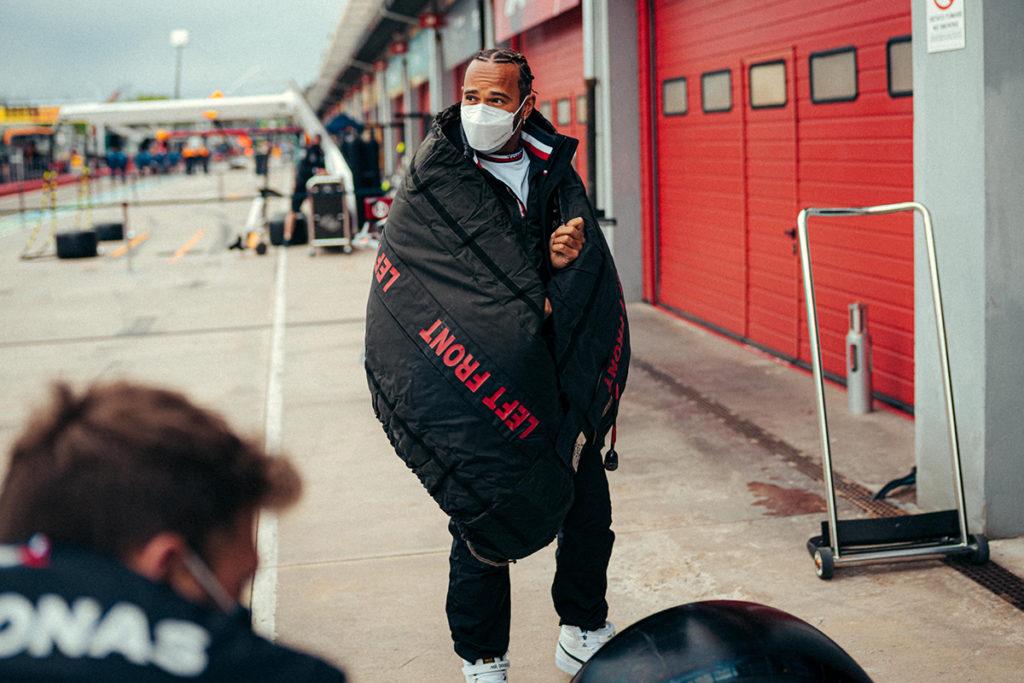 Formel 1 Lewis Hamilton Tyre Blanket Imola GP