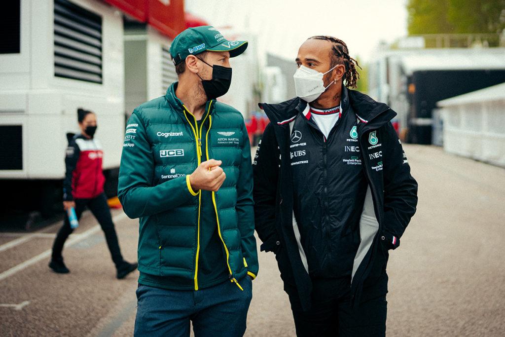 Formel 1 Hamilton Vettel Imola GP 2021