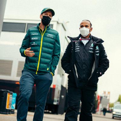 Sebastian Vettel und Lewis Hamilton. Credit: Mercedes