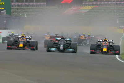 Formel 1 Imola GP Perez Hamilton Verstappen 2021 Start