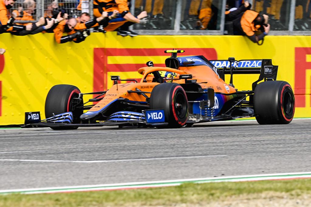 Formel 1 Lando Norris McLaren Imola GP 2021