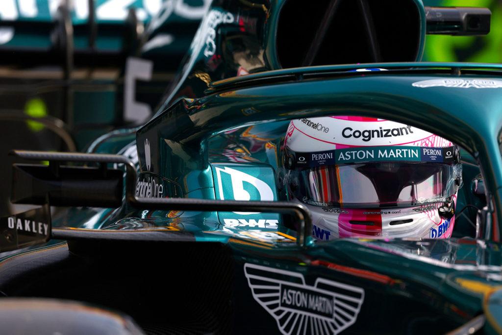Formel 1 Sebastian Vettel Aston Martin Portugal GP 2021 FP1