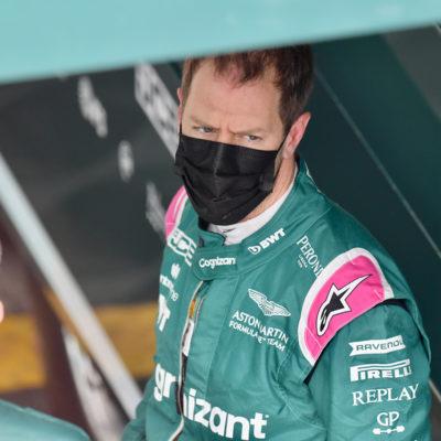 Formel 1 Sebastian Vettel Imola FP3 2021 01