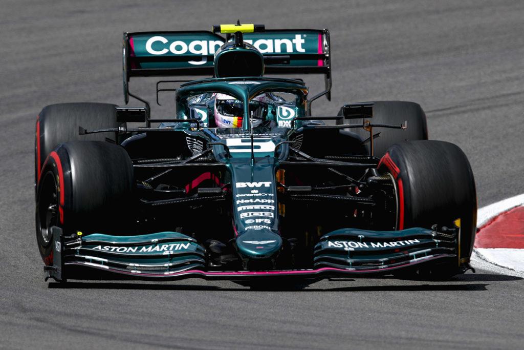 Formel 1 Sebastian Vettel Aston Martin Portugal GP 2021 FP2