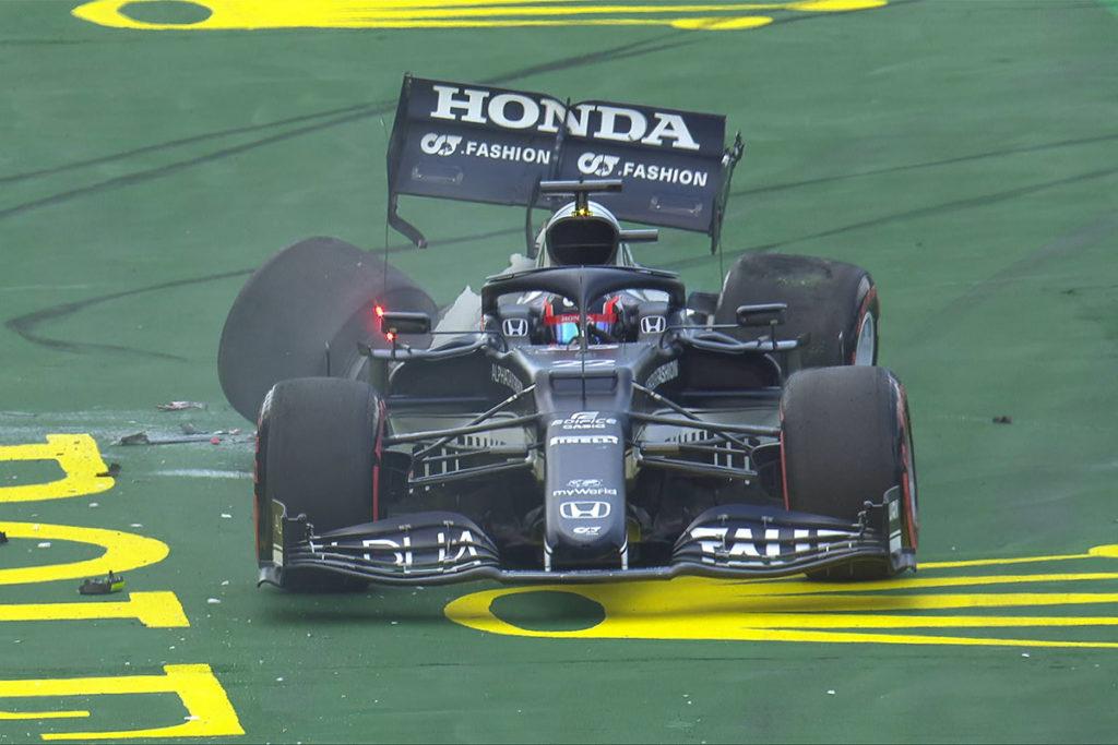 Formel 1 Yuki Tsunoda Imola GP Crash 2021