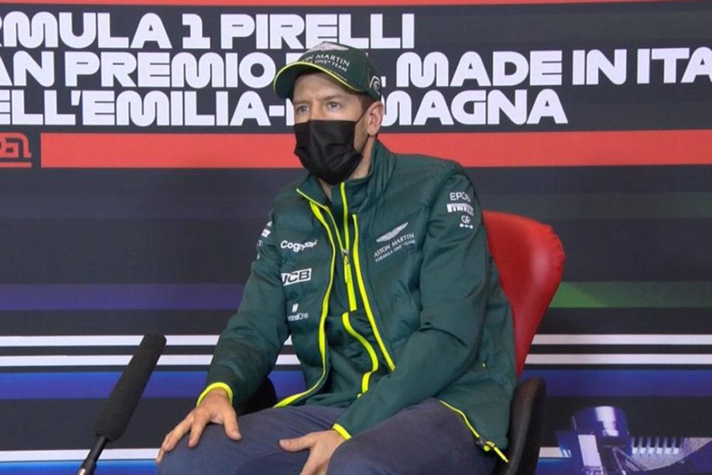 Formel 1 Sebastian Vettel Imola GP Pressekonferenz