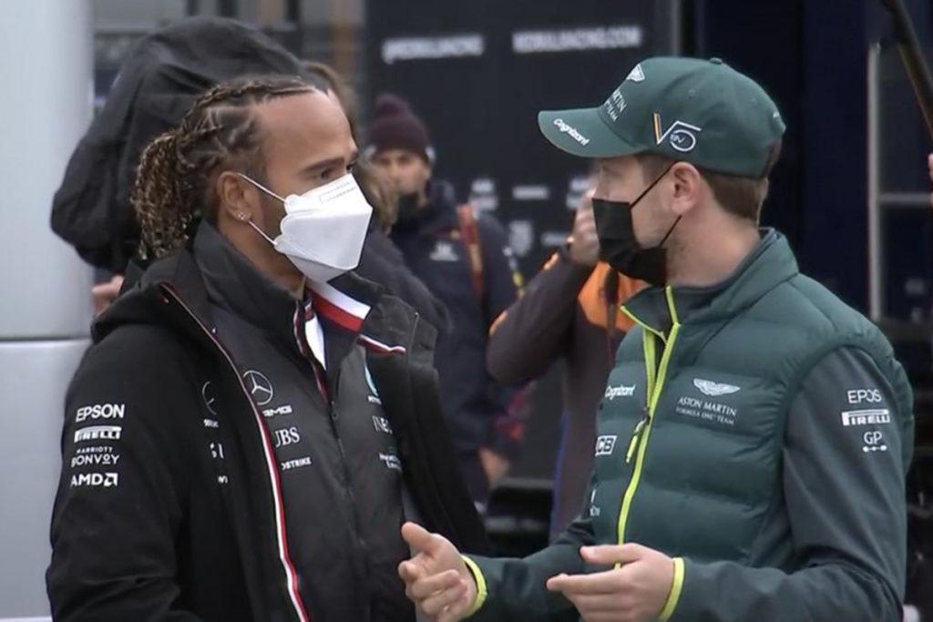 Formel 1 Lewis Hamilton und Sebastian Vettel Imola 2021