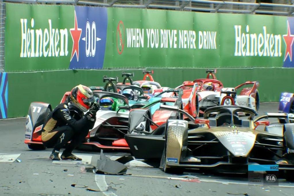 Formel E Crash im ersten Training zum Rom ePrix 2021
