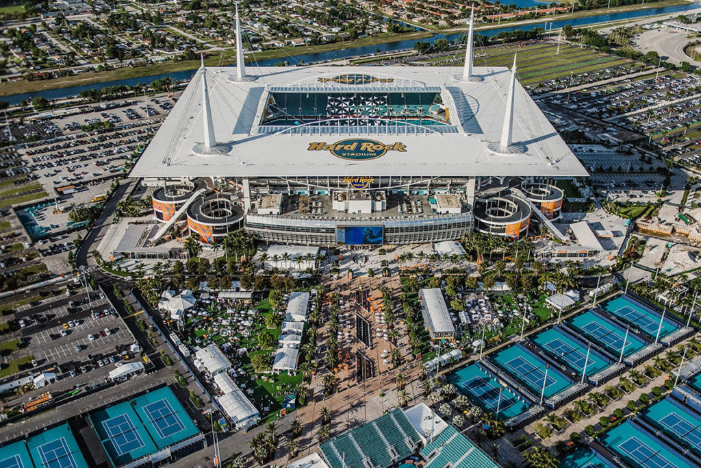 Hard Rock Stadium in Miami