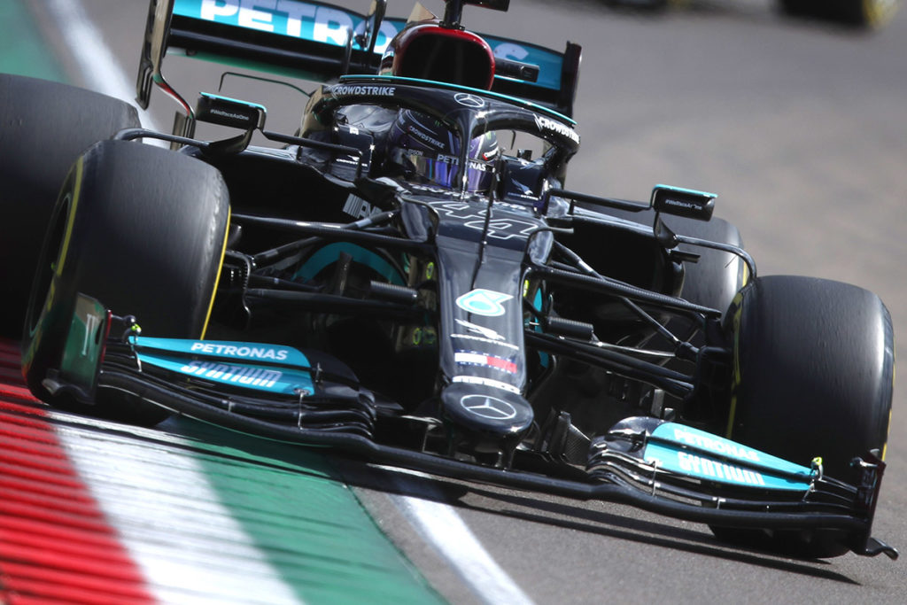 Formel 1 Lewis Hamilton Mercedes Imola GP Quali 2021