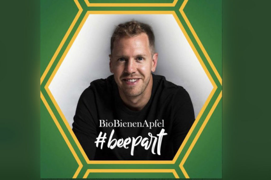 Sebastian Vettel BioBienenApfel Formel 1